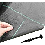 1m x 50m HEAVY DUTY Woven Weed Control Ground Driveway Landscape Fabric +40 Pegs