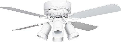 Concord Fans 42HUG4WH-Y408 42 Inch Hugger Ceiling Fan
