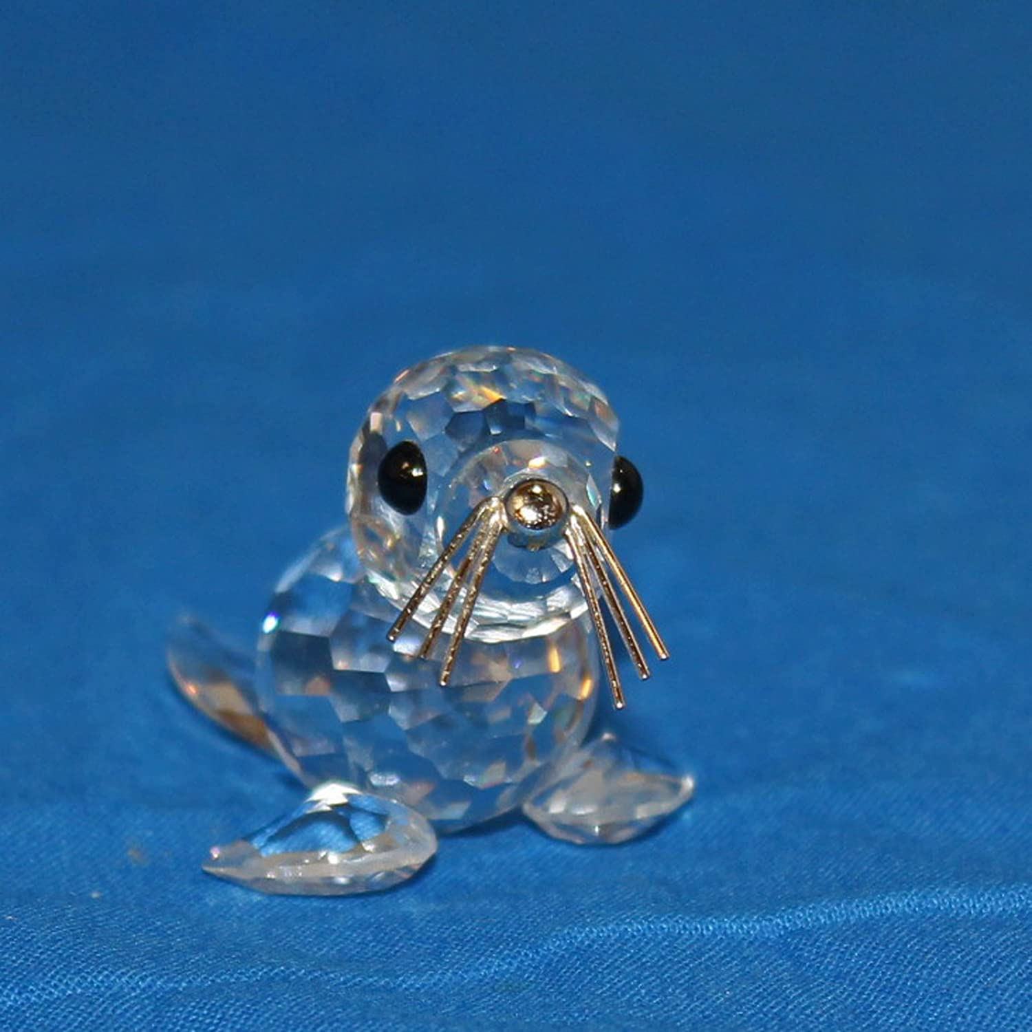 Swarovski Crystal Figurine, 012530 V2 - Mini Baby Seal with Silver Whiskers