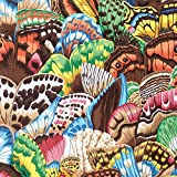 Natural World Butterfly Wing by Snow Leopard Designs Free Spirit Fabric 100% Cotton Quilt Fabric PWSL038-Natural