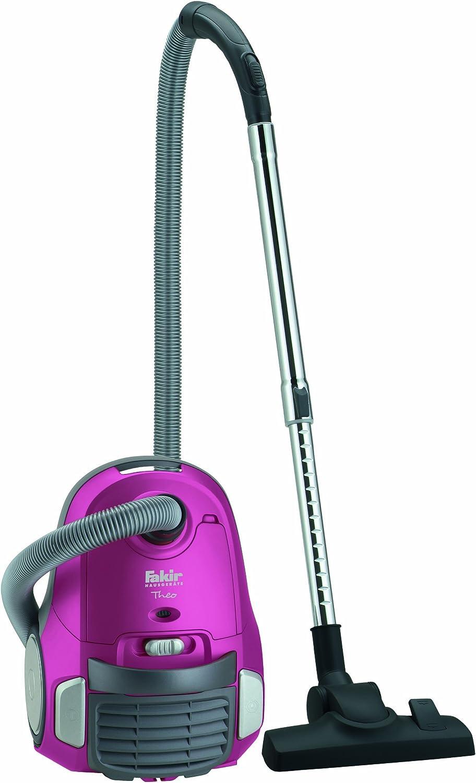 Fakir 2917003 Theo - Aspiradora con motor ecológico (1600 W, filtro HEPA), color rosa y gris: Amazon.es: Hogar