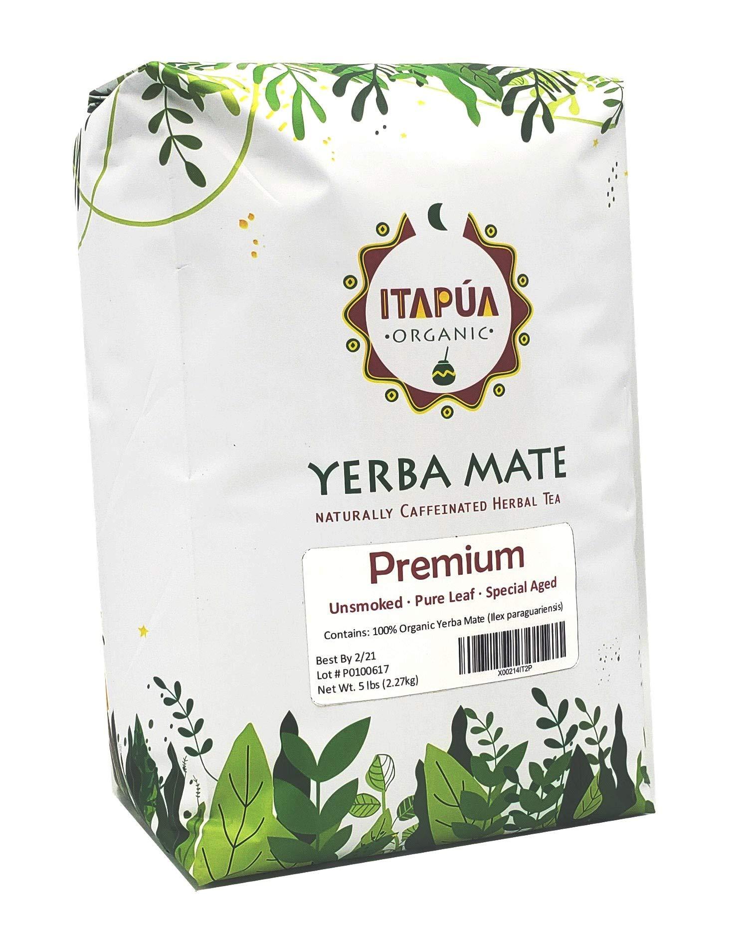 Itapua Premium 100% Organic Yerba Mate 5 lbs (2.27 kg) by Itapua