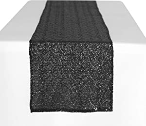 Peomeise 12x108 Inch Sequin Table Runner for Party Event Decorations