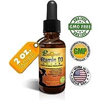 Vitamin D Drops for Infants - Liquid Vitamin D3 for Adults, Kids, Baby - 400iu per drop - 60ml 2140 doses