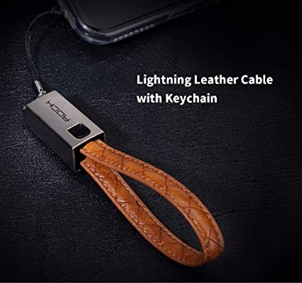 ROCK Keychain 8 Pin Metal Leather Wire Sync Data  Amazon.in  Electronics a8c79cf4e7793
