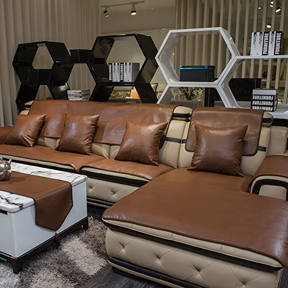 Amazing Black 1Pc 60X120Cm Leather Waterproof Sofa Covers Cushion Machost Co Dining Chair Design Ideas Machostcouk