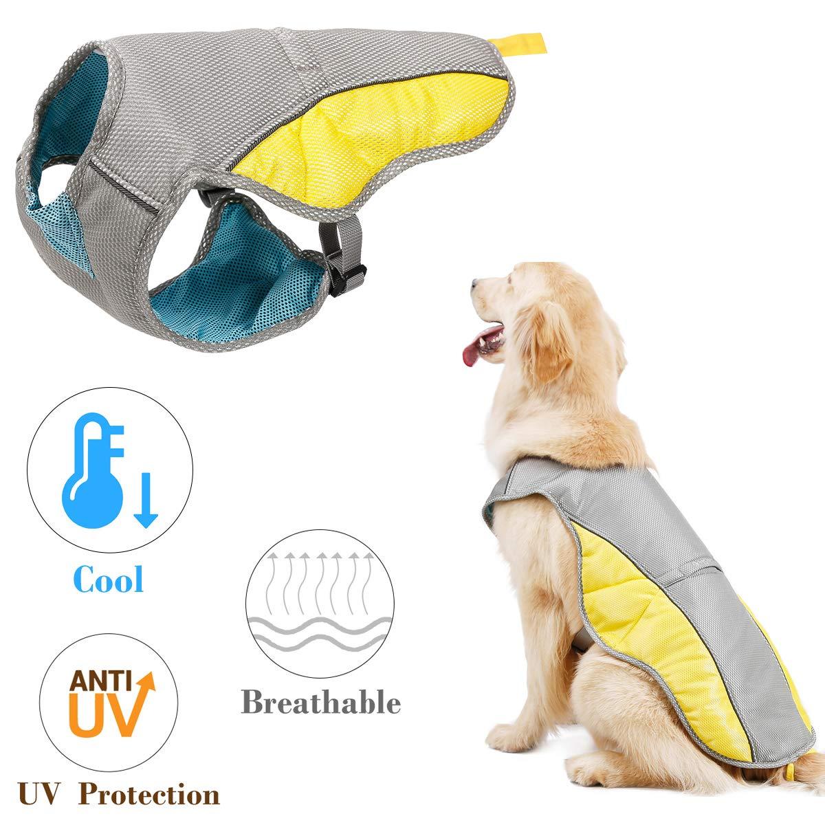 Kismaple Reflective Adjustable Dog Cooling Vest for Small Medium Large Dogs Puppy Cooling Jacket Pet Breathable Cooling Coat Summer Vest