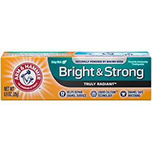 Arm & Hammer Bright & Strong Truly Radiant Toothpaste, 0.9 oz