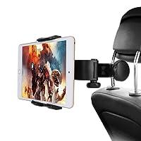 Tablet Halterung Auto, Lamicall Universal Tablet Halterung : KFZ-Kopfstützen Halterung für iPad Air Mini 2 3 4, New iPad 2017 Pro 9.7, 10.5, Tab, E-Reader, Smartphone und Tablet mit 4.4~11 zoll - Schwarz