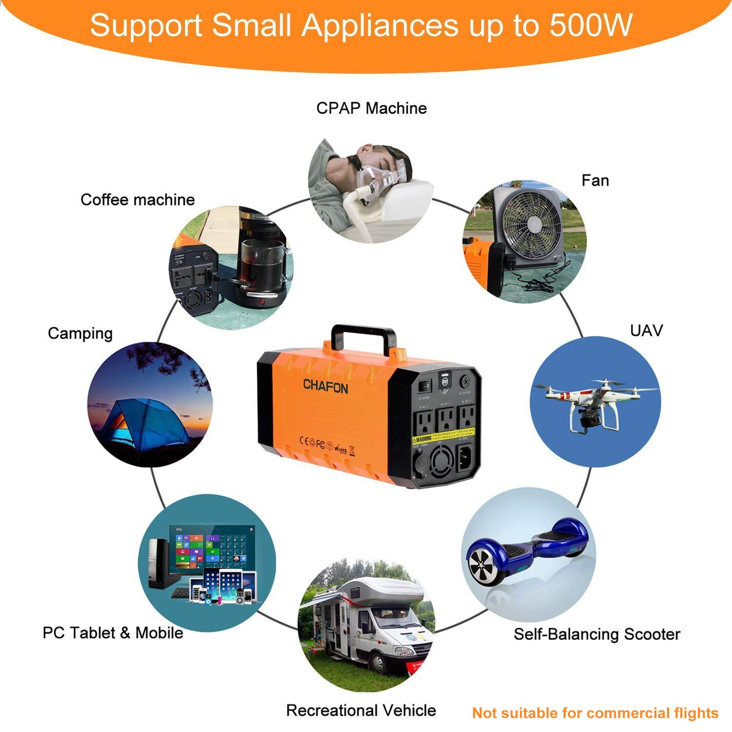 288wh Portable Generator Ups Battery Backuprechargeable Circuit Diagram 500w Power Source Inverter With 110v Ac12v Carusb Portscar Jump Starter For Camping