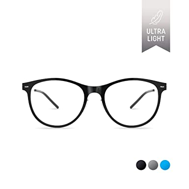 da99edff7b SQV i-FIT 103 Lightweight Screwless Eyeglass Frames Clear Lens Non- Prescription Plastic Glasses