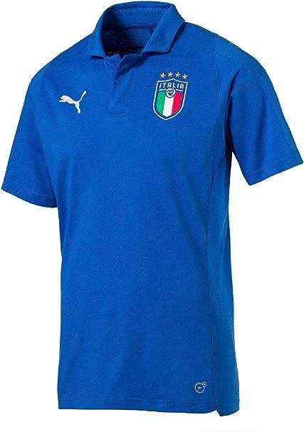 33e8330a8d Puma Uomo FIGC Italia Casual Performance Polo Polo SS: Amazon.it ...