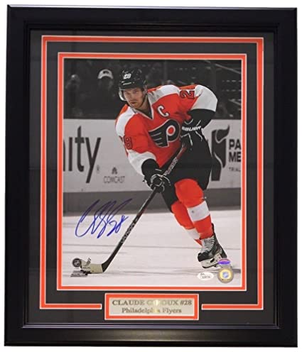 051cfec27 Image Unavailable. Image not available for. Color  Claude Giroux Signed  Autographed Framed 11x14 Philadelphia Flyers ...