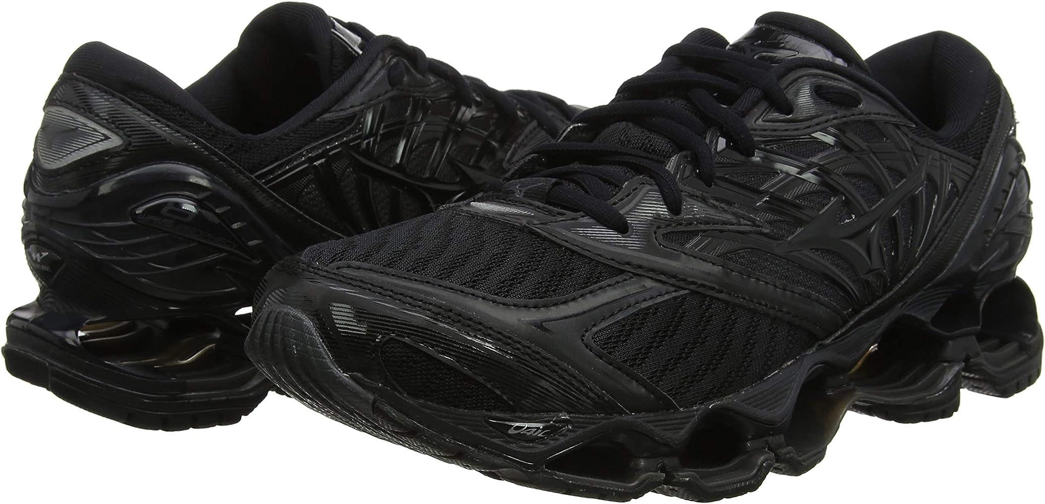 Mizuno Wave Prophecy 8, Zapatillas de Running por Hombre, Negro (Black/Black/DarkShadow 10), 40.5 EU: Amazon.es: Zapatos y complementos