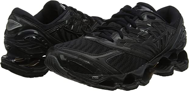 mizuno wave prophecy womens size 9.5 tall negra negras