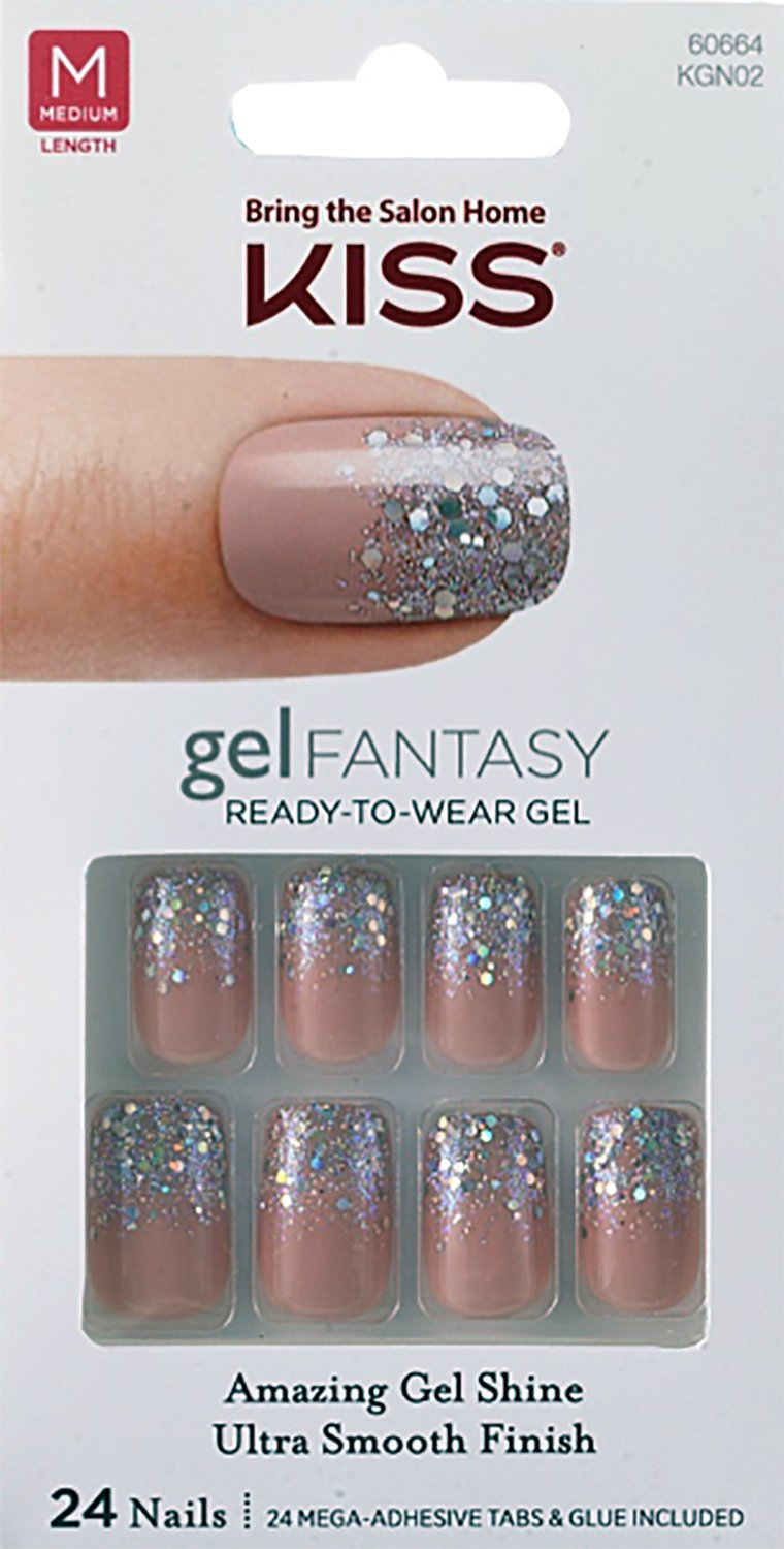 Amazon.com : **NEW UPDATED** Kiss Nails GEL FANTASY \