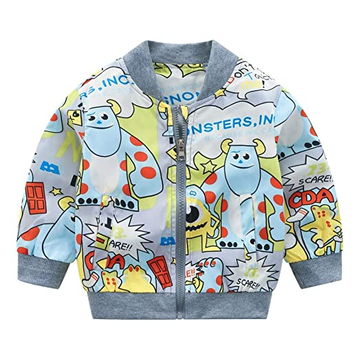 c79093716 Amazon.com: Iuhan Clearance! Kids Jacket Cute Monster Outerwear Coat ...
