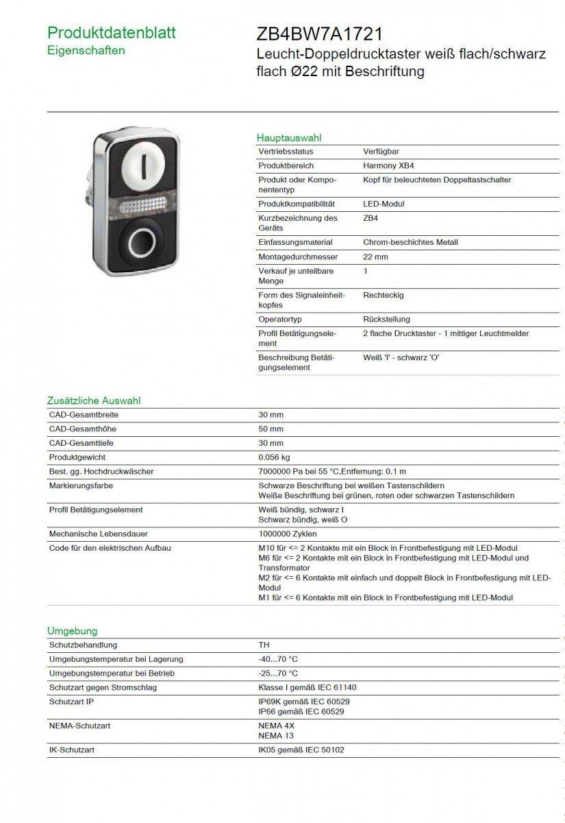 Amazon.com: Schneider Electric zb4bw7 a1721 actuador ...