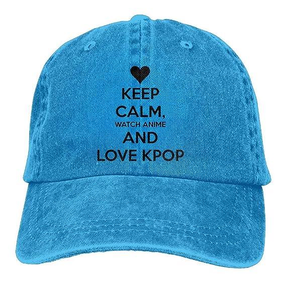 wwoman Keep Calm Watch Gorra Ajustable de algodón Anime y Love ...