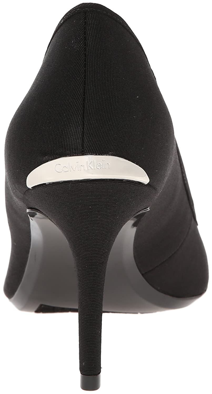 Calvin Klein Women's Gayle Pump B00LH01PBA 5 B(M) US|Black Stretch