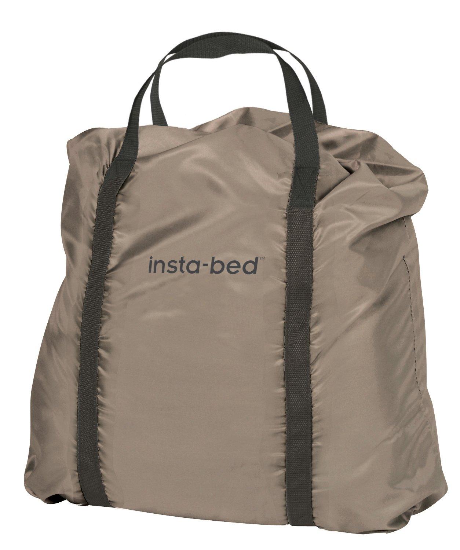 Insta Bed Queen Air Mattress With Never Flat Pump Beige