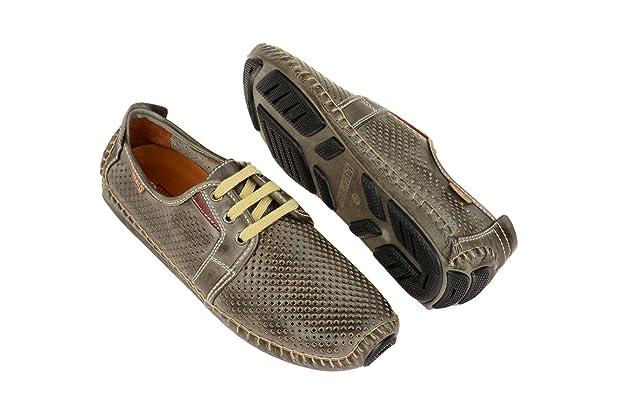 Pikolinos 09z-6038 Dark-grey-arcilla, Chaussures à lacets et coupe classique homme - gris - Dunkel-Grau,