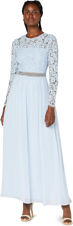Marke TRUTH /& FABLE Damen Midi A-Linien-Kleid aus Spitze