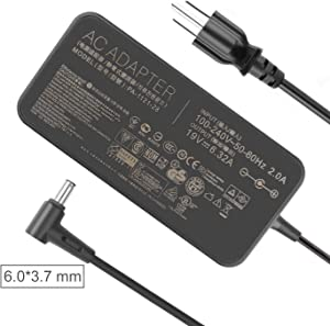 JUYOON 120W 19V 6.32A Charger AC Adapter for ASUS TUF Gaming FX705GM FX705DT FX705GE FX705GD FX505 FX505GD FX505GE FX505GD FX505DY FX705DY FX505GM TUF705GD fx505dd