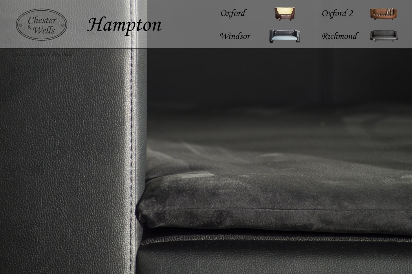 Amazon.com: Chester and Wells Hampton Dog Beds, Large, Black ...