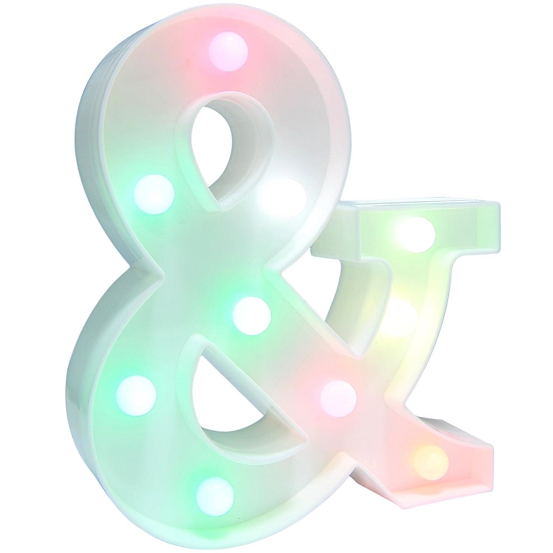 LettersライトLettersパーティーSupplies Kidsアルファベットカラフル文字ランプ電池式Alphabetテーブルデコレーション壁の装飾、子供用部屋、リビングルーム、ベッドルーム & KB28 B07BPWX3XY 15520   &