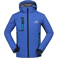 CIKRILAN Hombre Fleece Lined Softshell impermeable chaqueta de deportes al aire libre senderismo Trekking Coat