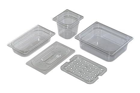 Saro – Bandeja 1/2 policarbonato transparente 100 mm