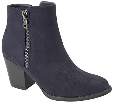 6cc0a27b6e3c1 Womens Ankle Boots in Black or Navy: Amazon.co.uk: Shoes & Bags