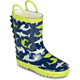 Chillipop Kid's Rainboots - Fun Prints, Easy On Handles for Little/Big Kids