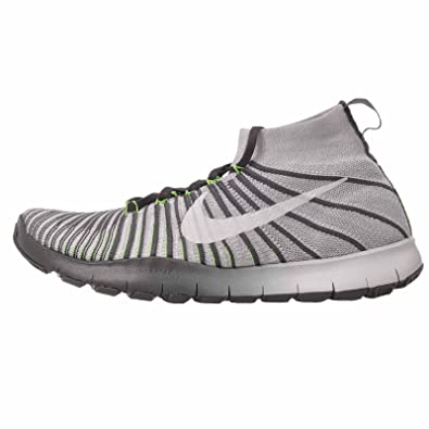 NIKE Mens Free Train Force Flyknit White/White - Wolf Grey 9.5 M US
