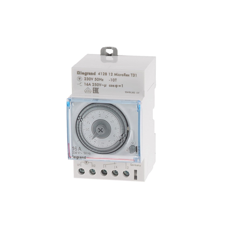 Legrand 003752 Microrex T31 - Interruptor horario programable (230 V, 50 Hz): Amazon.es: Bricolaje y herramientas