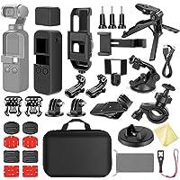 Neewer Kit Expansión 33 en 1 Compatible con Soportes para Cámara Acción dji OSMO Pocket, Kit Accesorios con Estuche/Soporte para Teléfono/Base Carga/Trípode/Ventosa para Auto/Soporte para Bicicleta