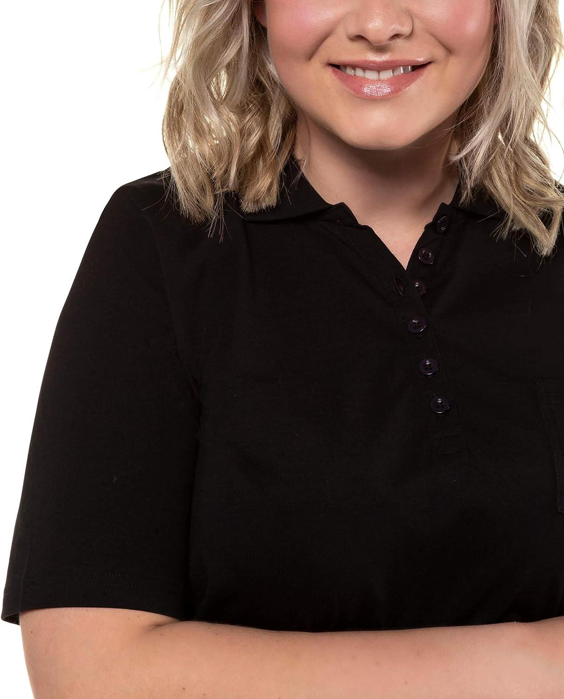 Ulla Popken Poloshirt Mit Brusttasche Pima Cotton Classic Polo para Mujer