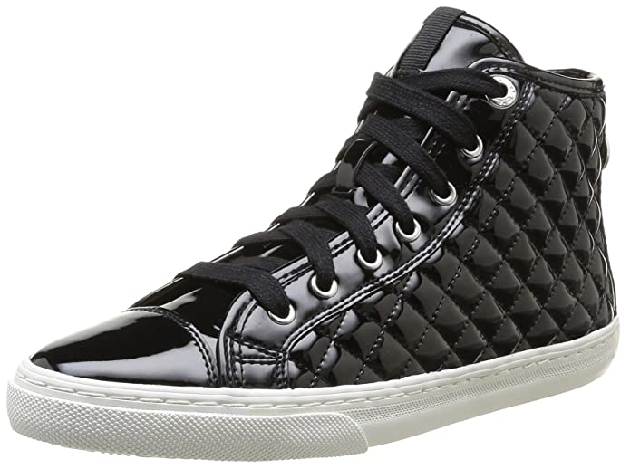 Womens D iyo New Club A Low-Top Sneakers - Black (C9999), 36 EU Geox