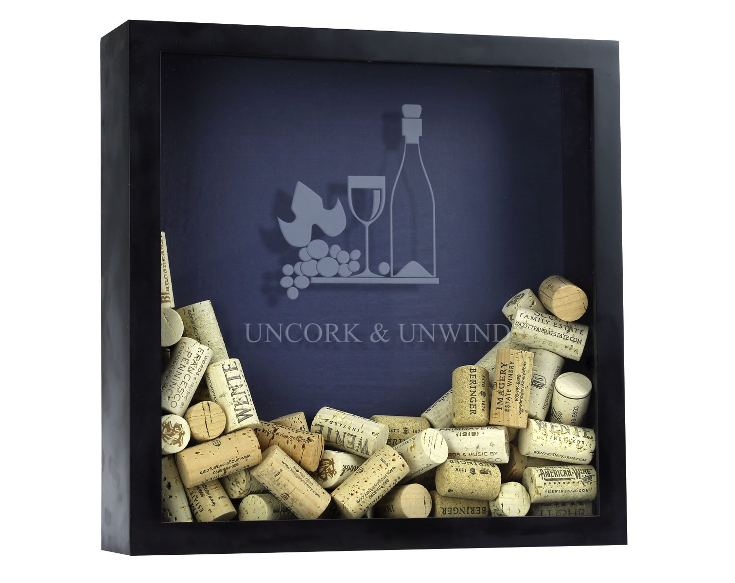 Wine Cork Shadow Box, Wine Cork Box, Wine Cork Storage, Uncork and Unwind