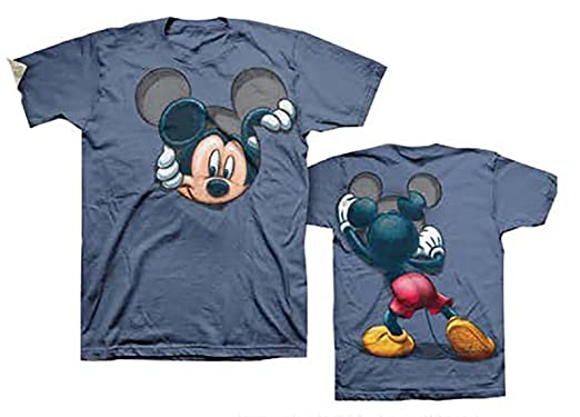 Disney Mickey Mouse Peeking Adult Fashion Top T Shirt- M | Amazon.com
