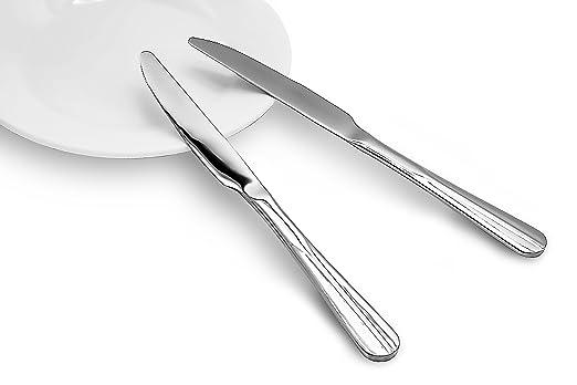 Nucookery - Cuchillos de acero inoxidable para cena | 18 10 ...