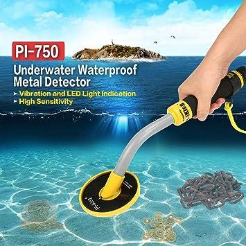 gugutogo Investigación sumergible resistente al agua del detector de metal Submarino SER de mano pi-750 de Oro: Amazon.es: Bricolaje y herramientas