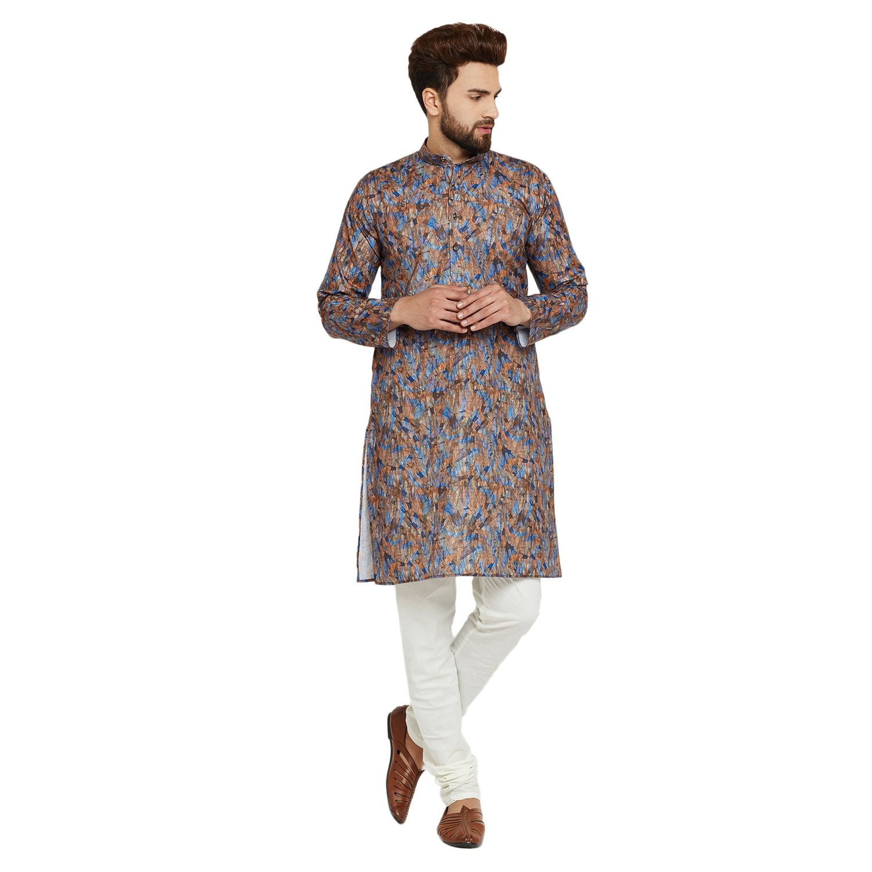 Indian-Traditional-Kurta-Pajama-Set-Shirt-Printed-Men-Kurta-Ethnic-Wear-XS-5XL thumbnail 10