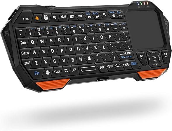 YTBLF Teclado inalámbrico Bluetooth, Teclado de ...
