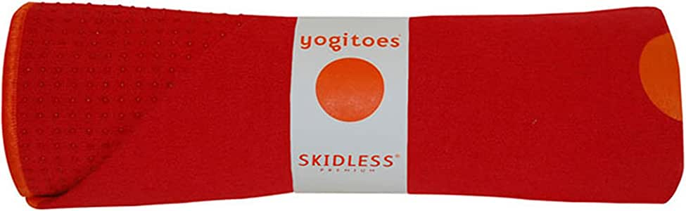 Yogitoes Yoga Mat Towel - Non Slip, Sweat Wicking with Patented Skidless Technology, Highly Absorbent