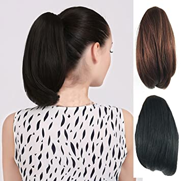DENIYA Short Straight Claw Clip Ponytail