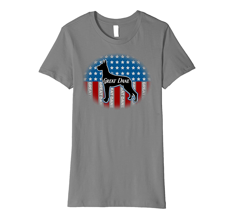 Great Dane Pet Patriot USA Flag T-shirt