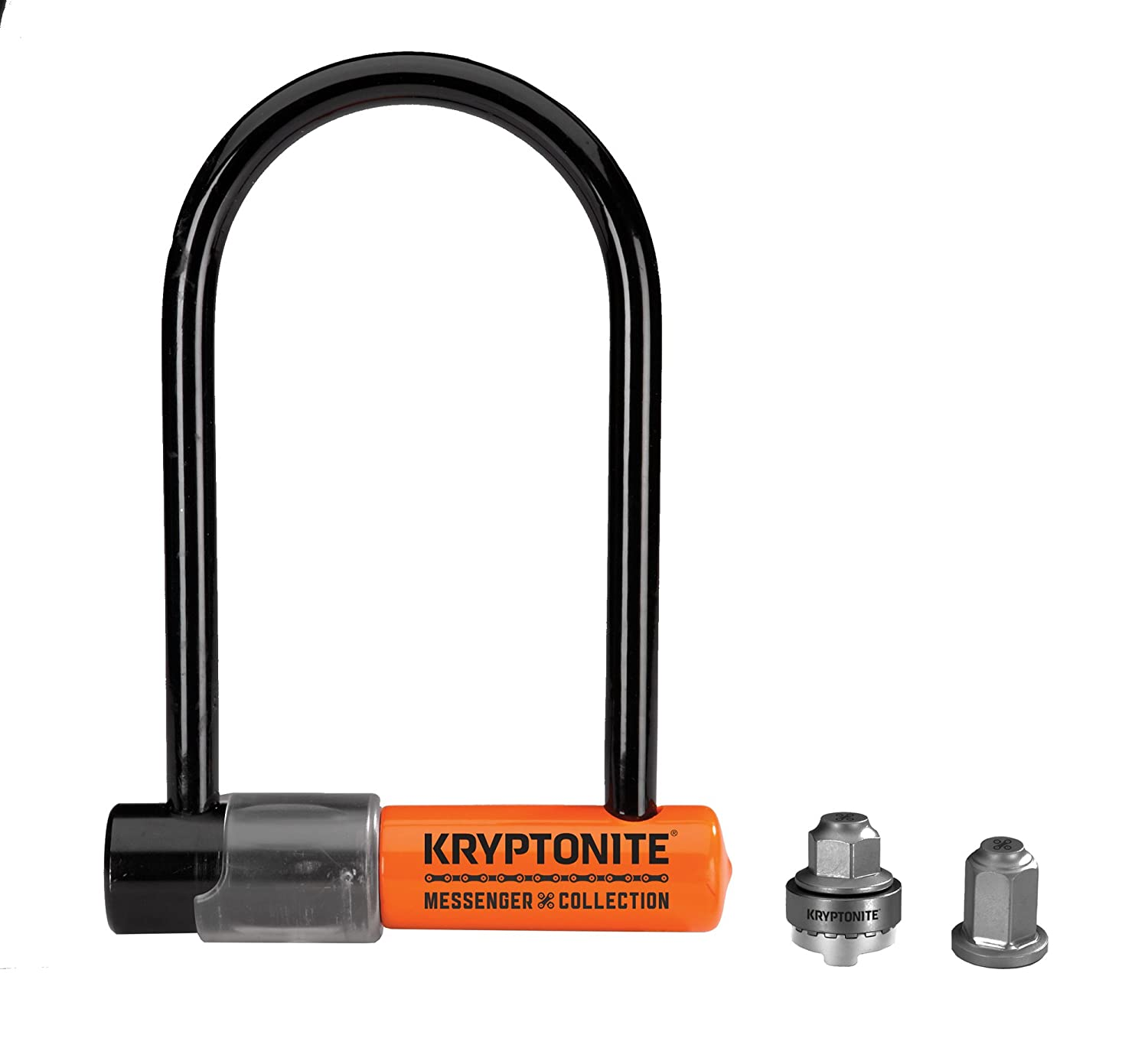 Kryptonite Messenger Mini Bicycle U-Lock Total Package w WheelNutz