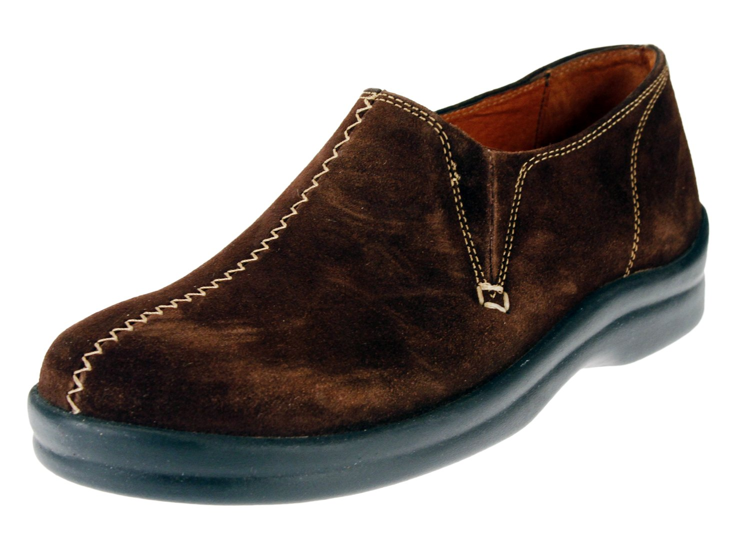 Footprints by Birkenstock Cambria Womens Leather Slip On Shoes (41 EU/US Women 10-Narrow, Suede Pinecone)